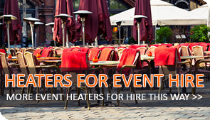 gas heater hire for events